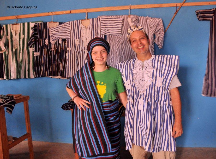 Cosa vedere in Ghana Togo e Benin produzione di stoffe artigianali