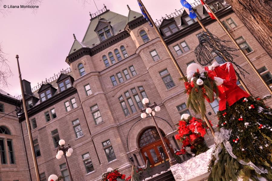 Canada on the road in inverno quebec city capodanno