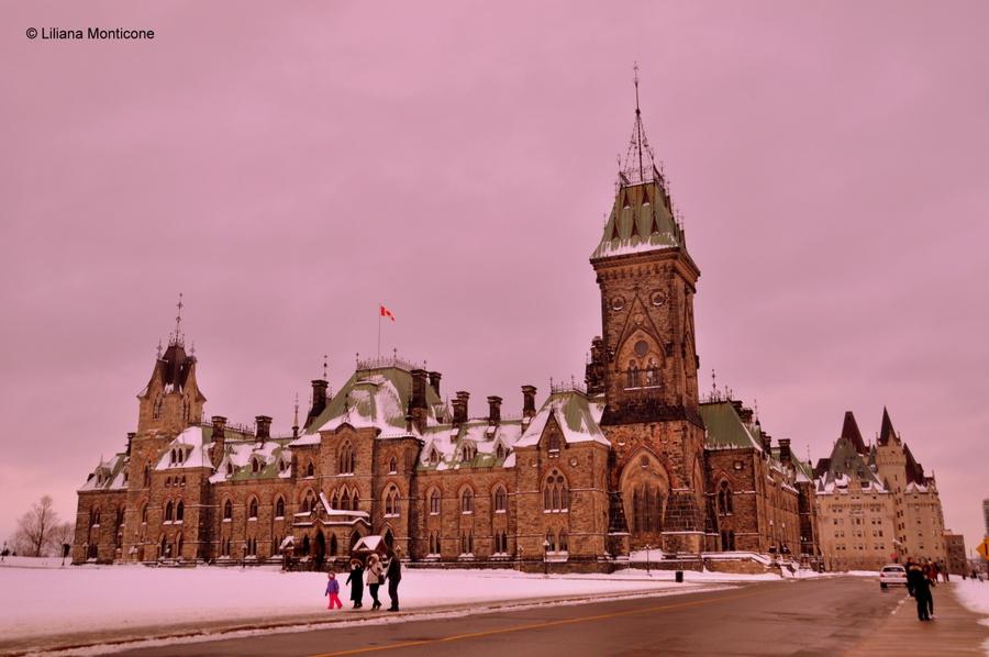 Canada on the road in inverno ottawa