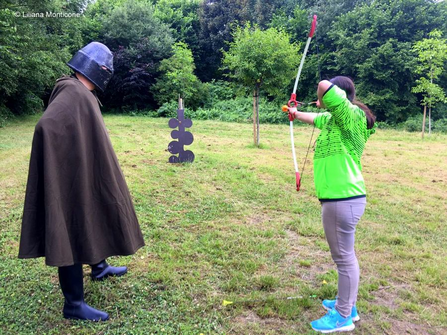 cosa fare a Bruxelles con bambini Sortilege tiro con l'arco