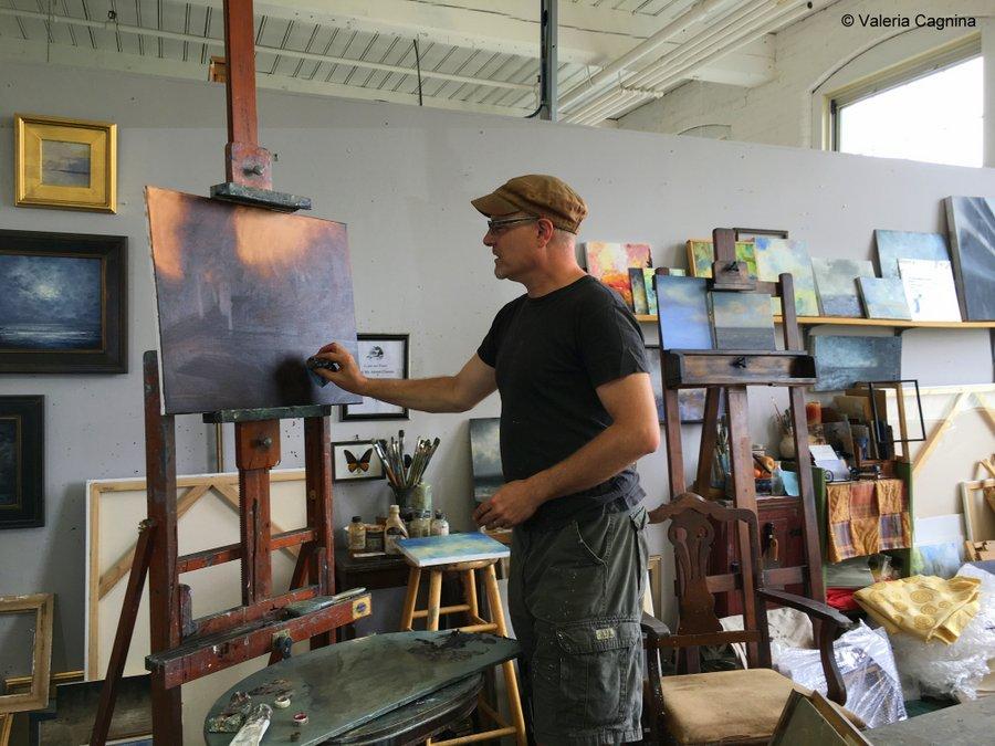 Cosa fare a Lowell arte Western Avenue Studios artisti al lavoro