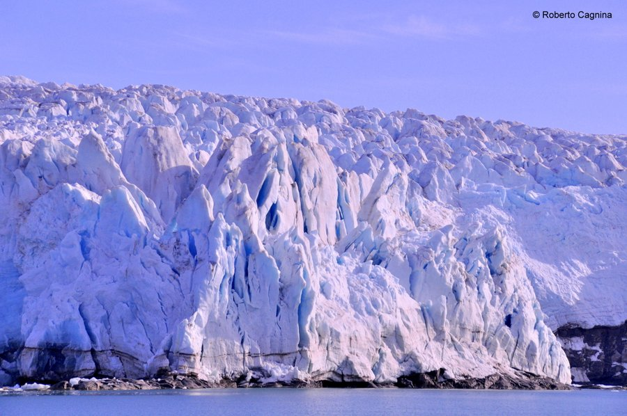 Escursioni alle Isole Svalbard Pyramiden fronte del ghiacciaio