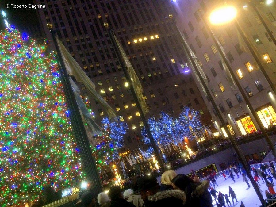 tour delle luci di Natale a New York rockfeller center e pista di pattinaggio