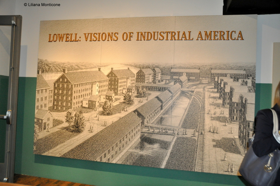 Protagonista la storia a Lowell in Massachusetts museo tessile