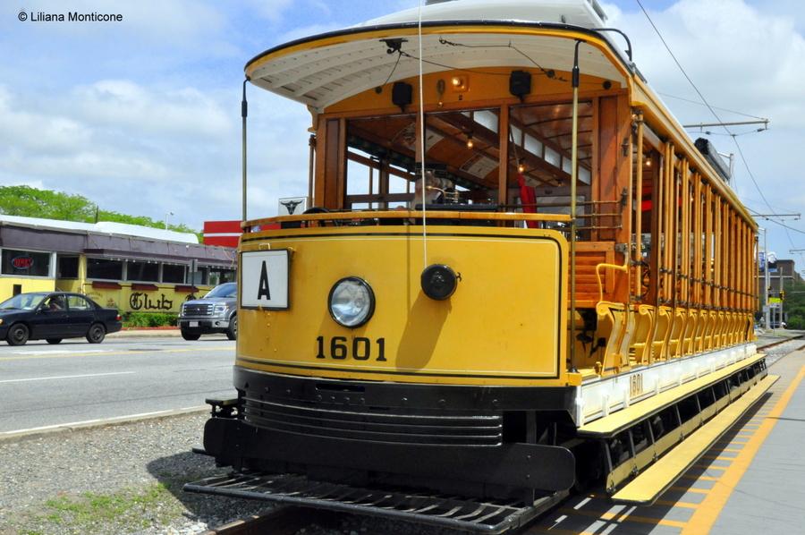 Protagonista la storia a Lowell in Massachusetts trolley gratuito