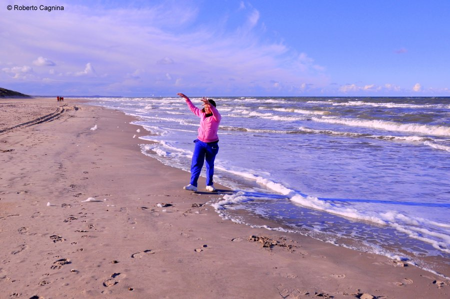 skagen danimarca mari si scontrano ma non si mischiano valeria gioca sulla spiaggia