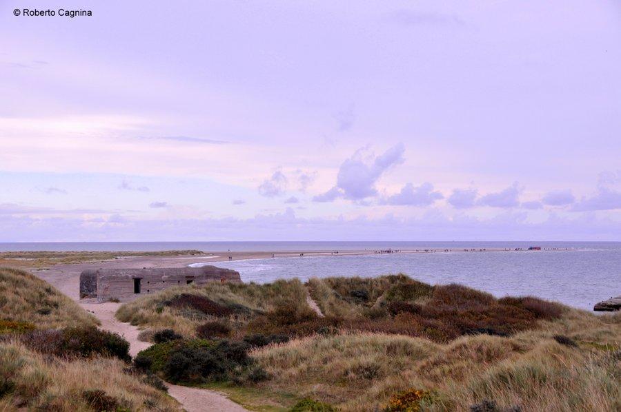 skagen danimarca mari si scontrano ma non si mischiano fortini e spiaggia