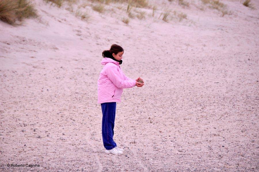 skagen danimarca mari si scontrano ma non si mischiano giocare sulla spiaggia