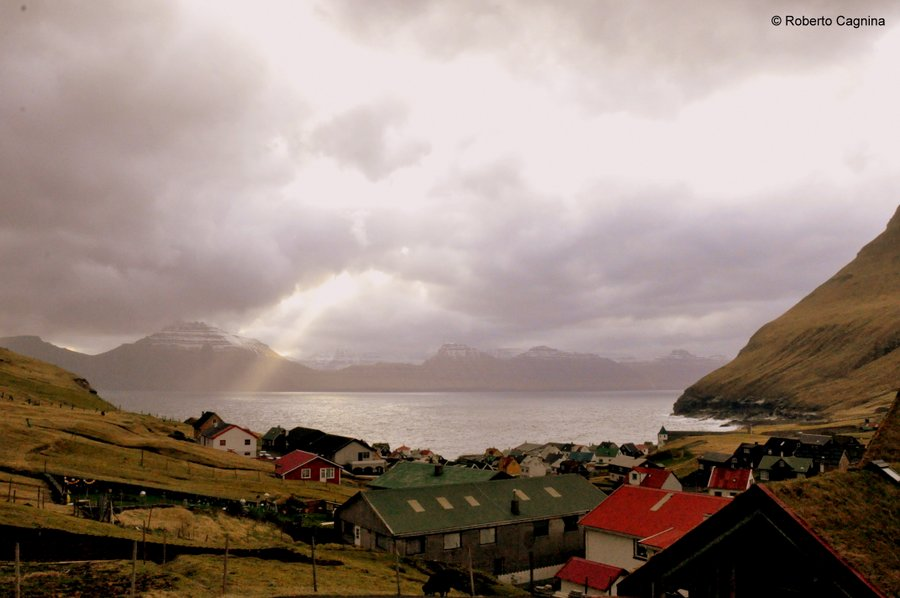 Stay in paradise at the Faroe Islands view on the road